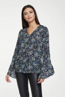 Heine Long Sleeve Print Blouse - 252257