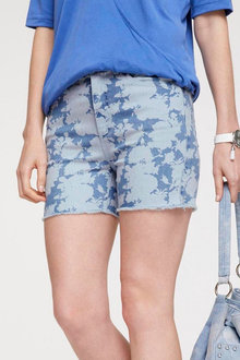 Heine Printed Denim Shorts - 252258