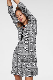 Urban Long Sleeve Printed Dress - 252266