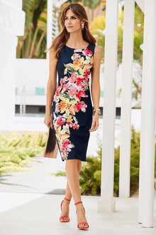 European Collection Floral Scuba Dress - 252277