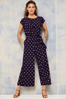 Grace Hill Tie Front Knit Jumpsuit