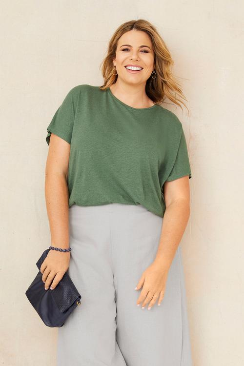 Sara Oversized Linen Tee