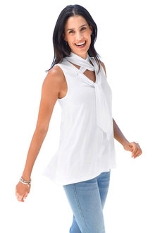 Euro Edit Neck Tie Top - 252304