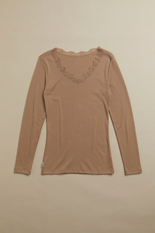 Isobar Lace Trim Thermal LS Top