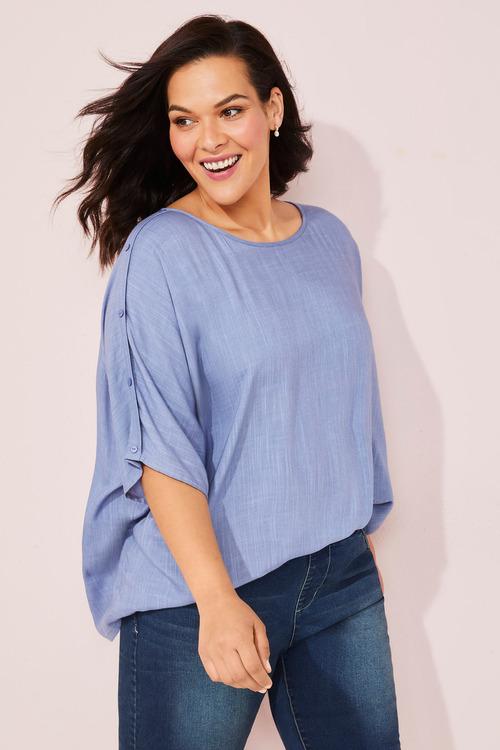 Sara Button Sleeve Top