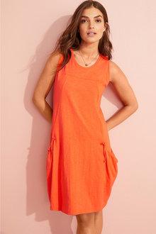 Capture Cotton Pocket Detail Dress - 252333