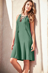 Capture Cotton Tie Neck Dress
