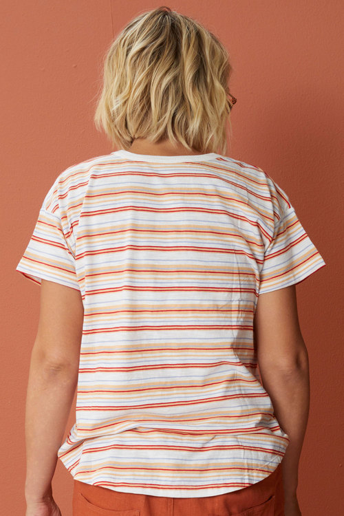 Capture Crew Neck Striped Tee