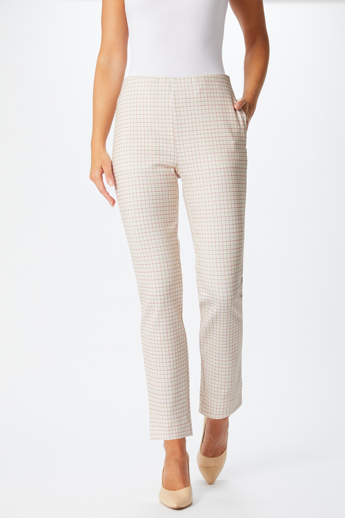Capture Stretch Check Pull On Pant