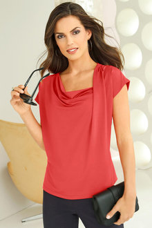 Euro Edit Pleat Design Top - 252340