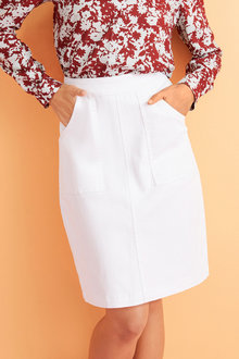 Capture Patch Pocket Denim skirt - 252350