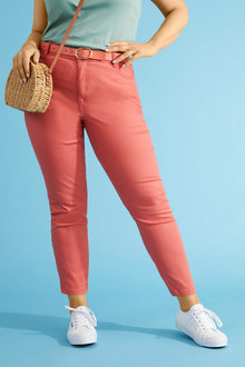 Sara Coloured Crop Jean - 252356