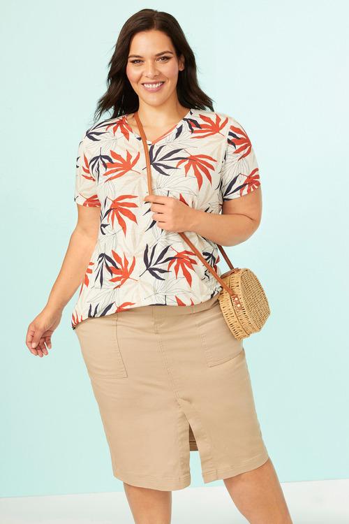 Sara Patch Pocket Denim Skirt