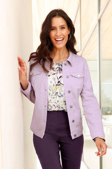Euro Edit Lilac Denim Jacket - 252370