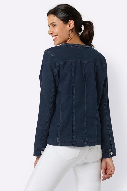 Euro Edit Braid Detail Denim Jacket
