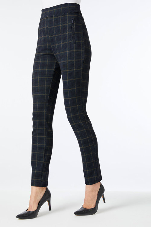 Capture Ponte Slim Zip Detail Pant