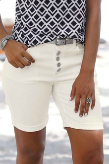 Urban Button Bermuda Shorts - 252417