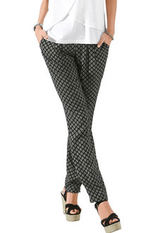 Euro Edit Pleat Tie Front Pull On Pants - 252468