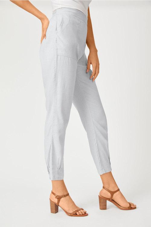 Grace Hill Linen Blend Cuff Detail Pant