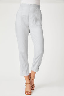 Grace Hill Linen Blend Cuff Detail Pant - 252472