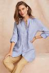 Grace Hill Linen Blend Longline Shirt