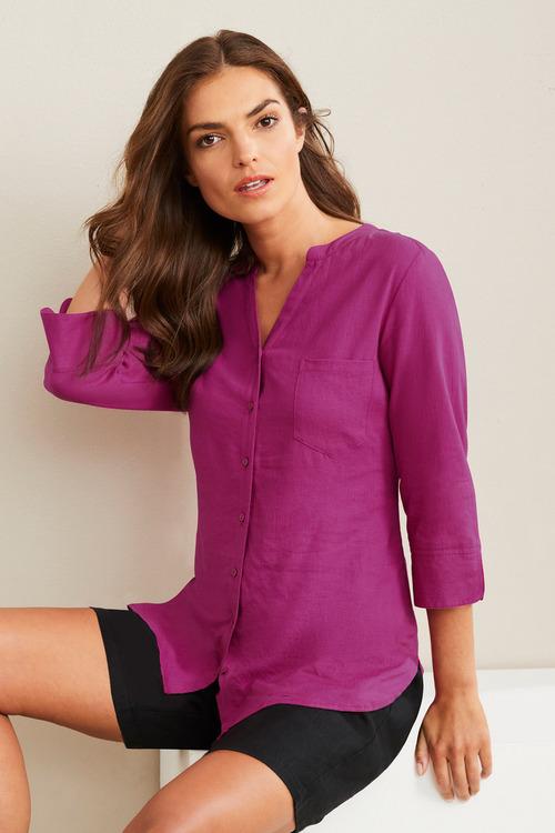 Capture Linen Blend Classic Shirt
