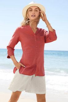 Capture Linen Blend Classic Shirt - 252485