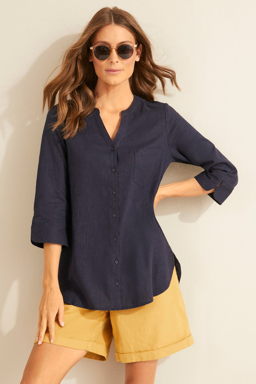 Capture Linen Blend Classic Shirt