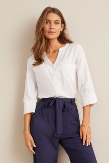 Capture Linen Blend Classic Shirt - 252485