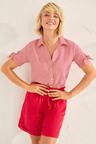 Capture Linen Blend Tie Sleeve Shirt