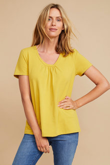 Capture Gather Neck Tee - 252499