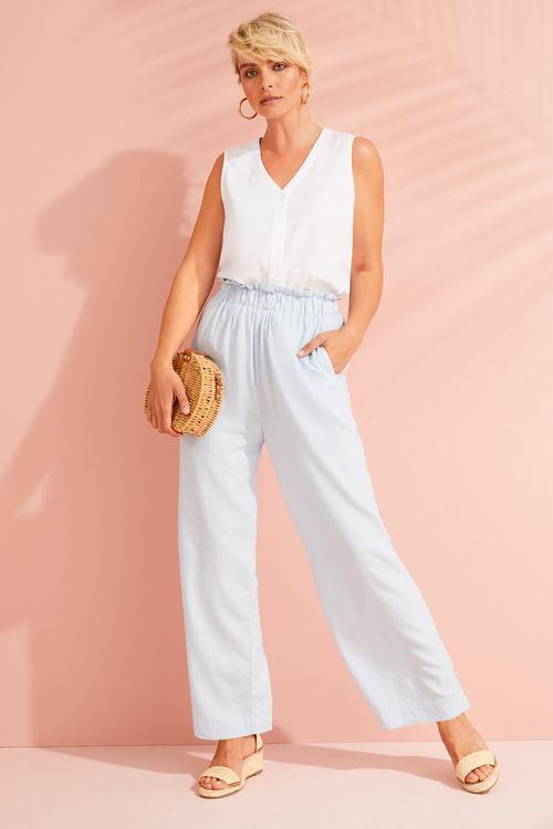 Emerge Linen Sleeveless Shirt