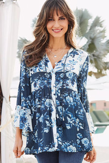 European Collection Floral Shirt - 252505