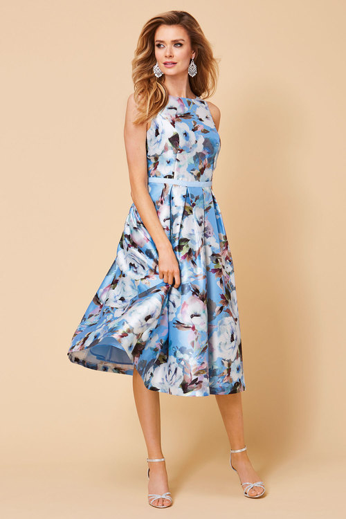 Kaleidoscope Floral Prom Dress