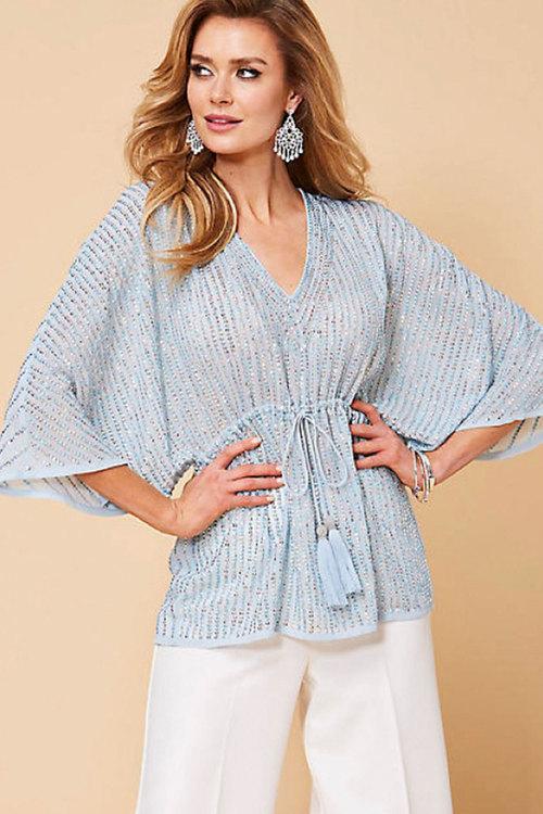 Kaleidoscope Sequin Embellished Tunic