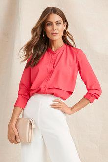 Grace Hill Silk Layered Shirt - 252527