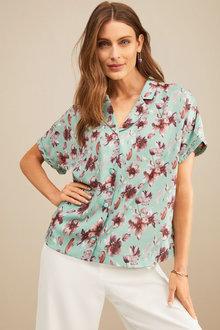 Grace Hill Silk Blend Short Sleeved Shirt - 252534