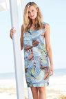Kaleidoscope Patch Pocket Linen Dress