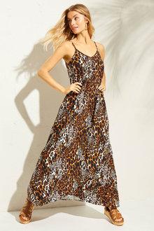 Capture Maxi Slip Dress with Pockets - 252546