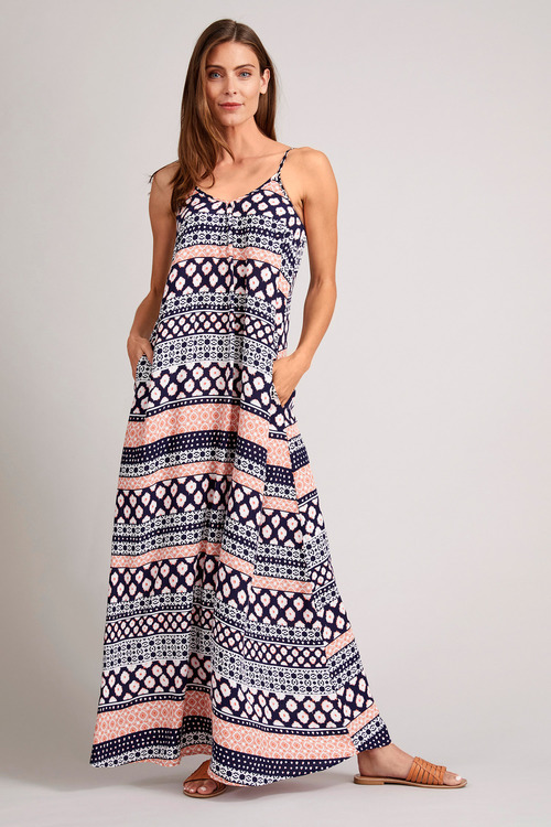 Capture Maxi Slip Dress with Pockets