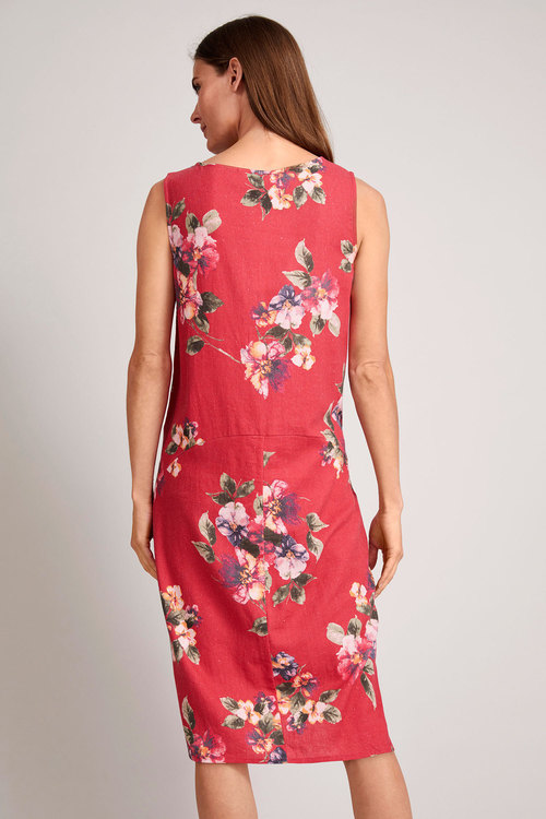 Capture Linen Blend Pocket Dress