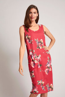 Capture Linen Blend Pocket Dress - 252547