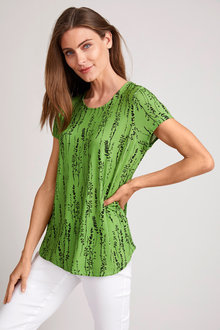 Capture Pleat Back Tee - 252551
