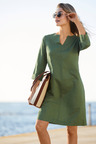 Capture Linen Blend 3/4 Sleeve Dress