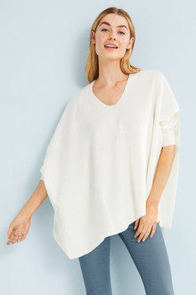 Capture Knit Poncho Top - 252556