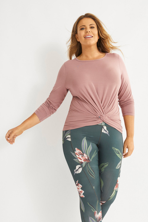 Isobar Active Long Sleeve Twist Top