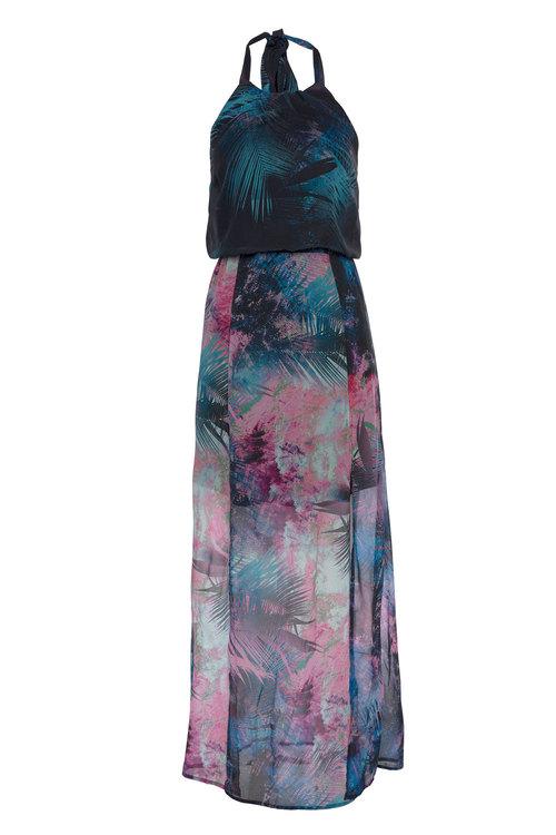 Urban Tropical Print Maxi Dress