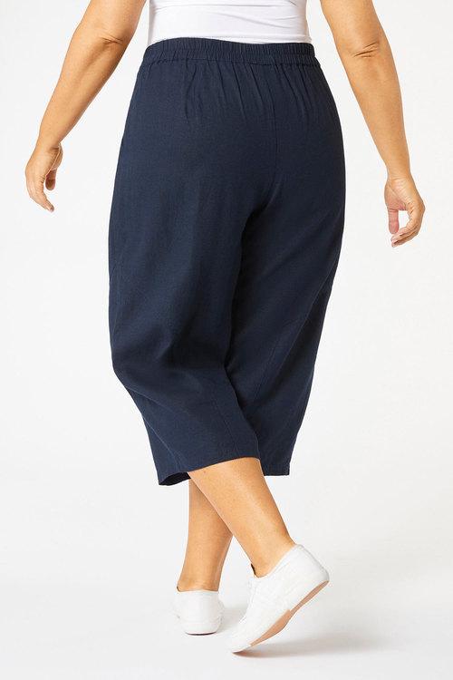 Sara Wide Leg Linen Crop