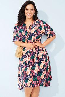Sara Print Dress - 252641