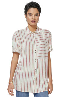 Euro Edit Metallic Stripe Shirt - 252642